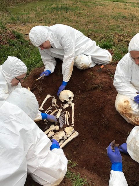 The Kolibri Forensics team during a skeletal recovery training exercise in April 2019