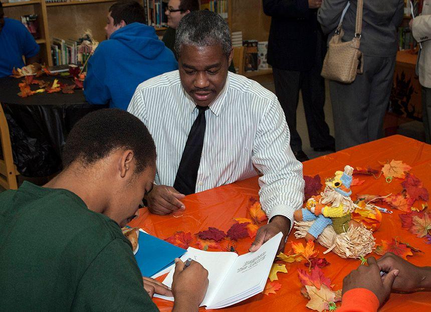 Cooperating teacher Harold Abram Jr.