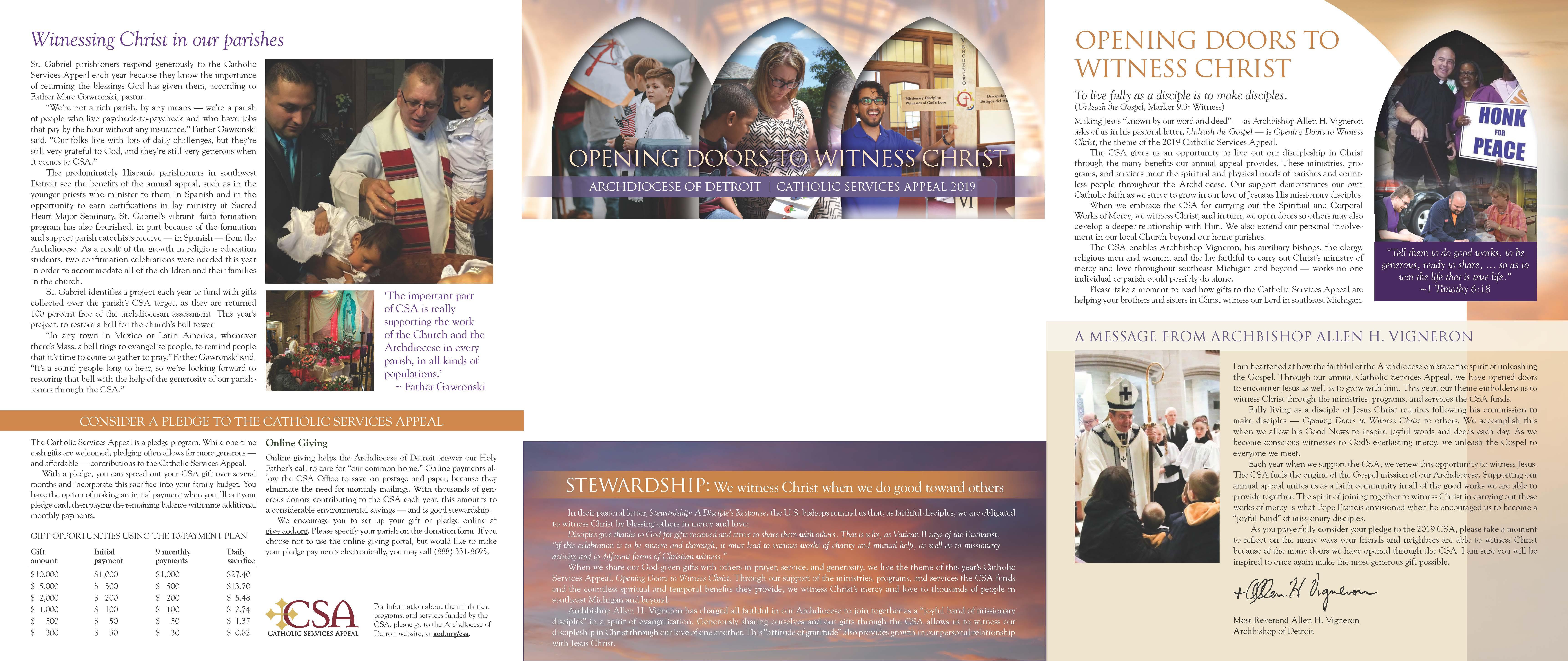 2019 CSA Brochure