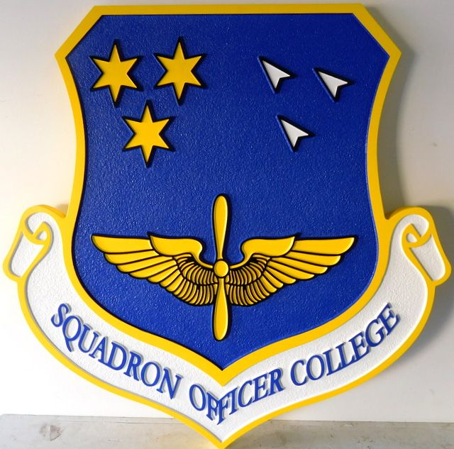 V31545 - 2.5-D Shield  Wall Plaque for the Squadron Officer College