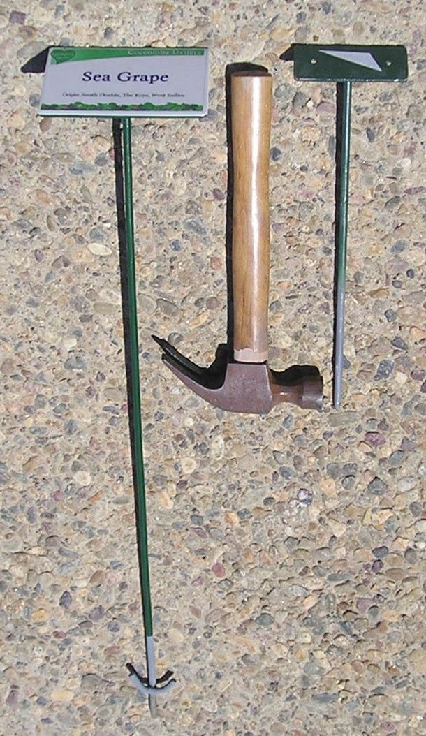 GA16665 - Plant Name and Location markers on One or Two Foot Hign Metal Posts
