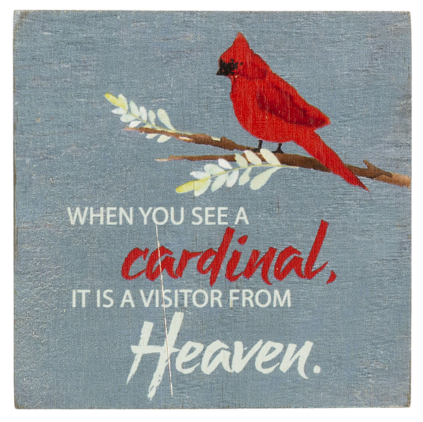 Block Talk - When you see a cardinal it is a visitor from heaven