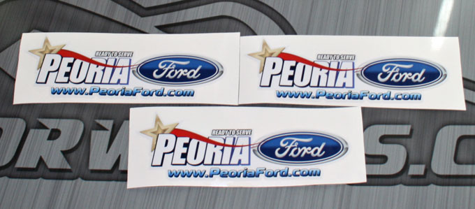 Peoria Ford Sticker