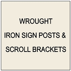 P25300 - Wrought Iron Posts, Scroll Brackets, Frames & Stands for Horse Signs