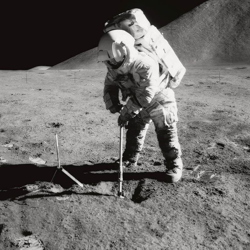 Turning the Moon Into a Particle Spectrometer