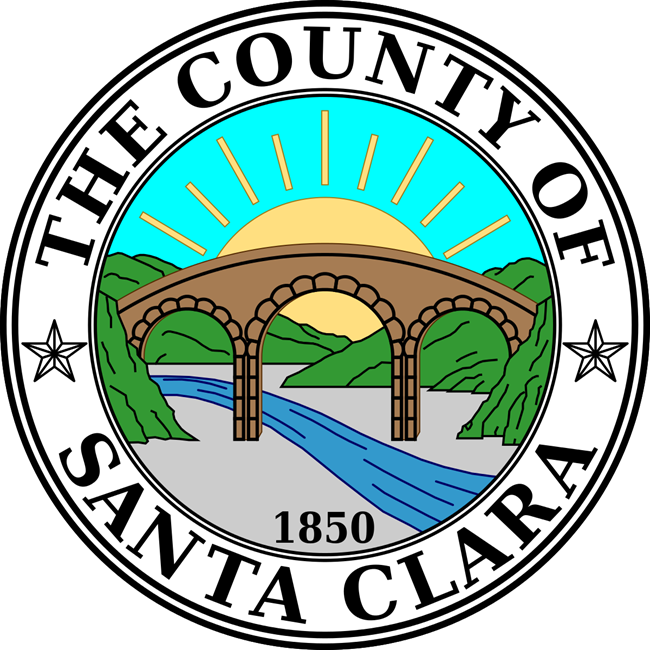 CP-1620 - Carved Plaque of the Seal of Santa Clara County, California, Artist Painted