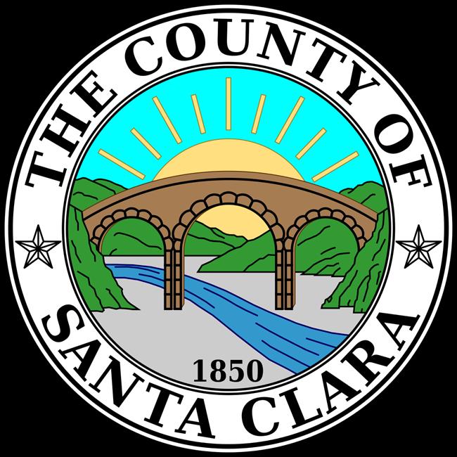 CP-1620 -  Plaque of the Seal of Santa Clara County, California, Giclee