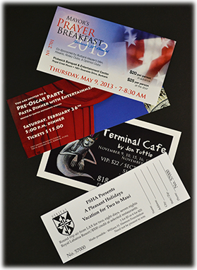 Tickets with Perforation & Numbering