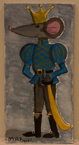"""King Rat"" - Donated by the artist, Mary Ann Bucci"