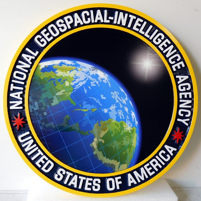 V31151 - National Geospacial Intelligence Agency  (NGIA) Wall Plaque