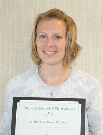 Sarah Droge recognized as an Emerging Leader in Physical Therapy