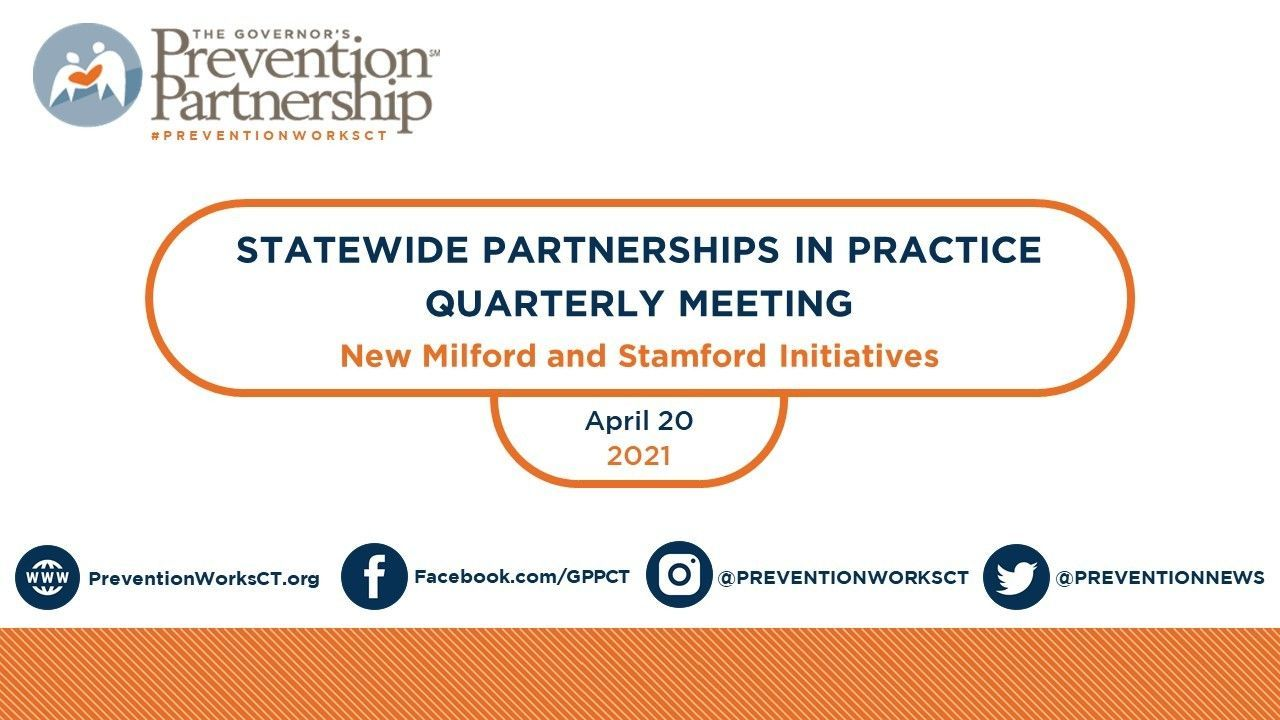Statewide Opioid Partnerships in Practice - Spring, 2021