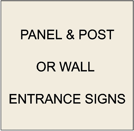 2. -  K20075 - Post-and-Panel & Wall-Mounted  Apartment and Condo  Entrance Signs