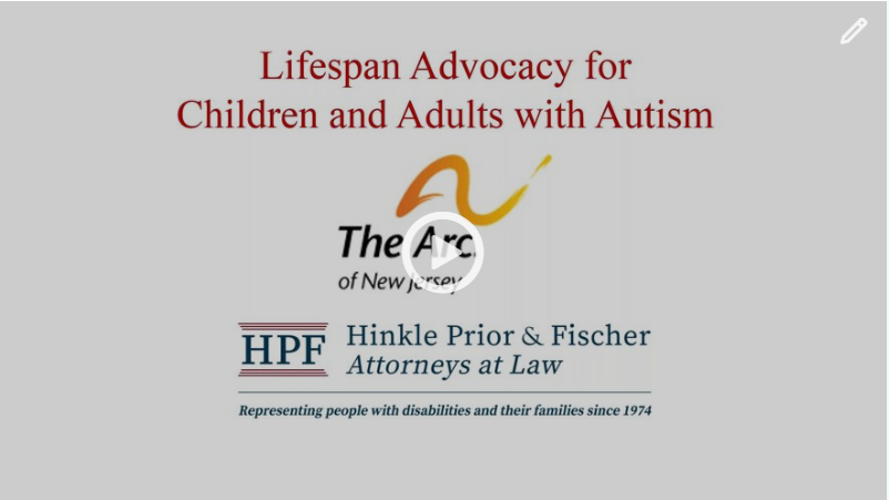 Lifespan Advocacy Issues For Children and Adults with Autism