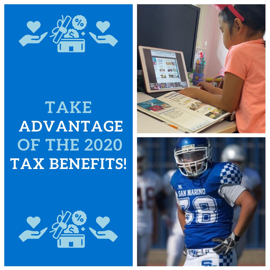 Take Advantage of Tax Benefits!