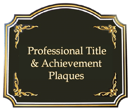 (B) Professional Title and Achievement Signs & Plaques (attorneys, doctors, dentists, vets, CPA's, managers,  executives)