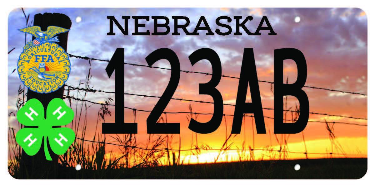 Nebraska FFA & 4-H License Plate