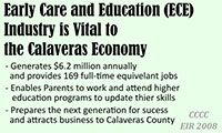 ECE Industry is Vital to the Calaveras Economy