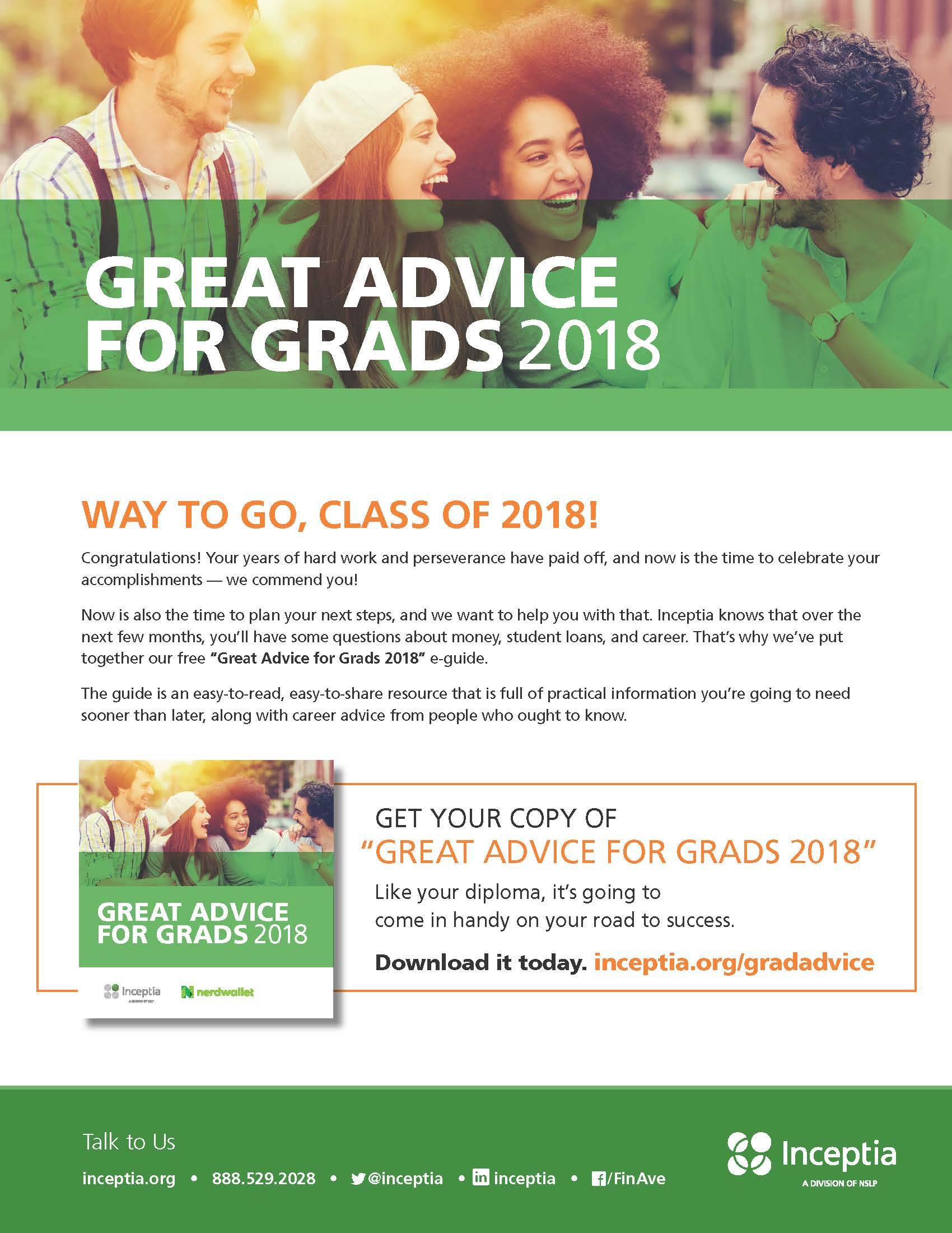 Inceptia Great Advice for Grads 2018