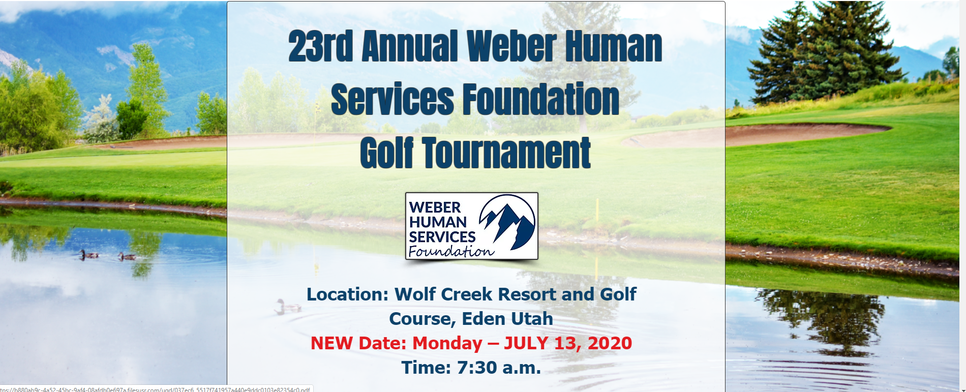 Weber Human Services Foundation 23rd Annual Golf Tournament