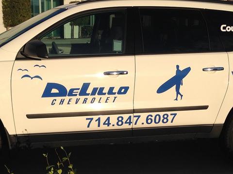 Dealership courtesy shuttle vehicle graphics Orange County