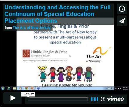 Understanding and Accessing the Full Continuum of Special Education Placement Options (English Version)