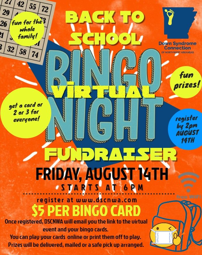 DSCNWA Virtual Back to School Family Bingo Night Fundraiser
