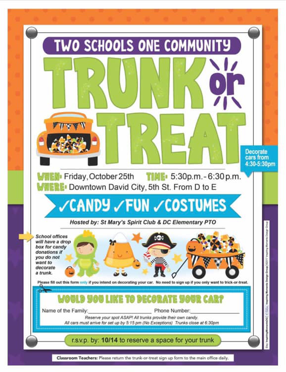 Two Schools - One Community - Trunk or Treat