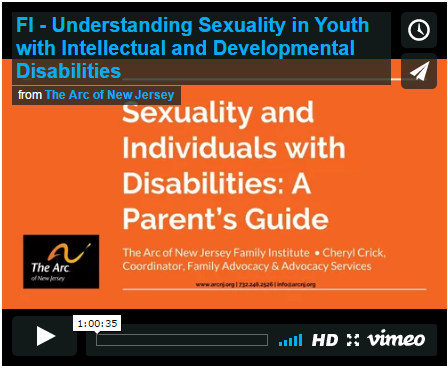 Understanding Sexuality in Youth with Intellectual and Developmental Disabilities