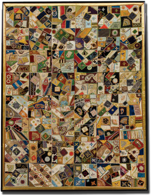 IQSCM | Exhibitions | A Fairyland of Fabrics: The Victorian Crazy ... : crazy quilt pictures - Adamdwight.com