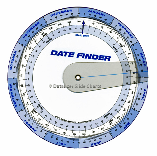 "7"" Plastic Date Finder with Cursor"