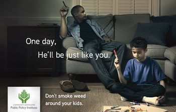Just Like You campaign to encourage parents not to smoke marijuana around their children