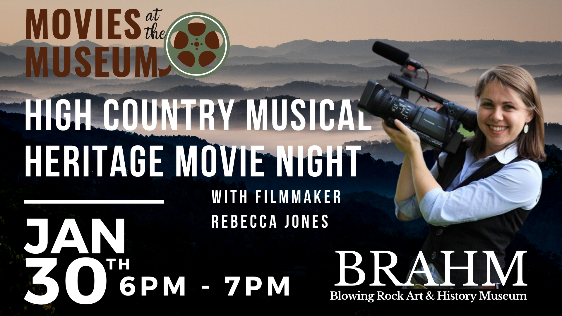 Movies at the Museum:  High Country Musical Heritage Movie Night with filmmaker Rebecca Jones