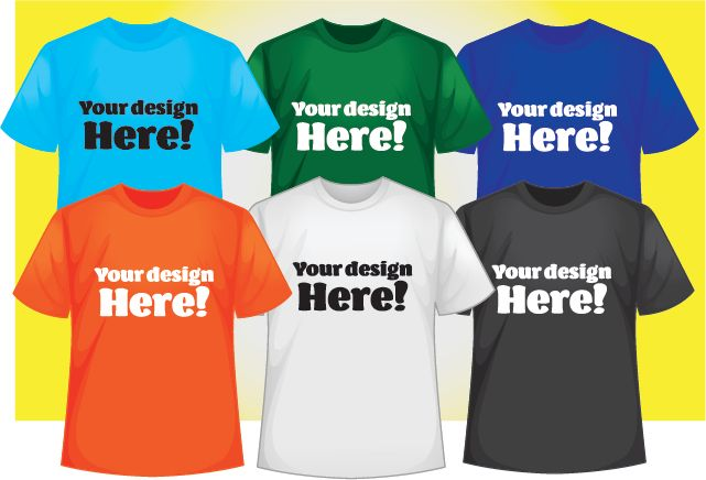 Color t-shirts and Screen printing
