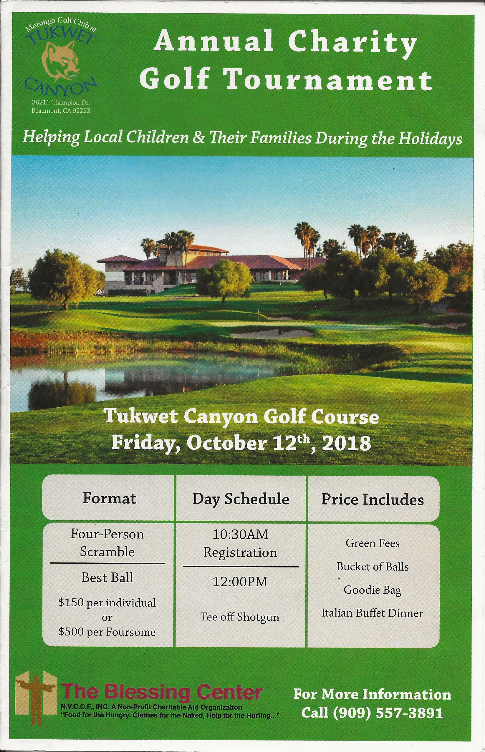 Annual Charity Golf Tournament Information