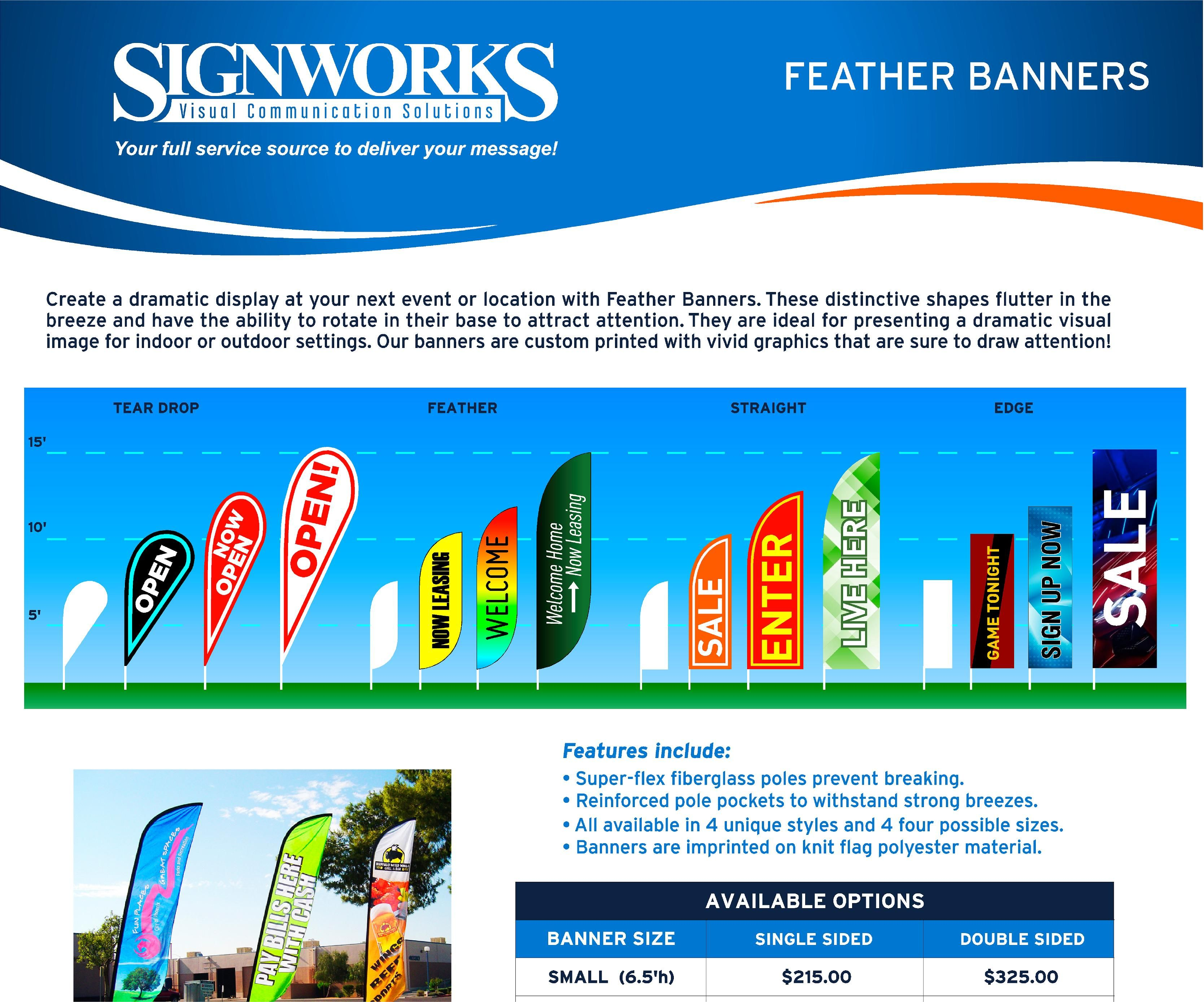Flag Feather Banners