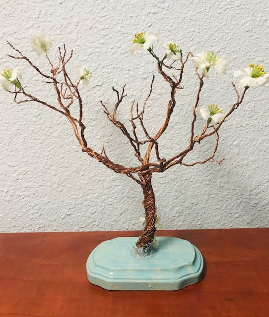 A20 Copper tree with blossoms