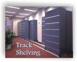 Track Shelving at Lancer Ltd. 1-800-541-2232