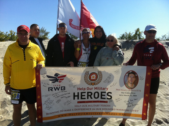 custom banner for help our military heroes organization.