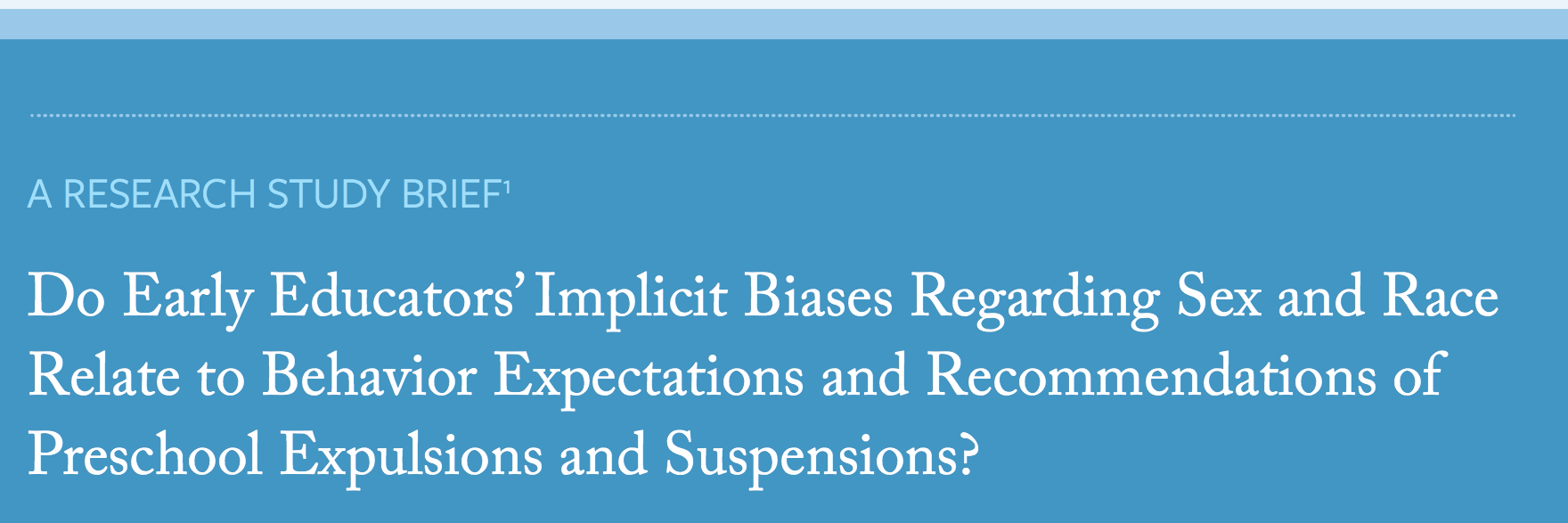 Implicit Bias in Early Childhood