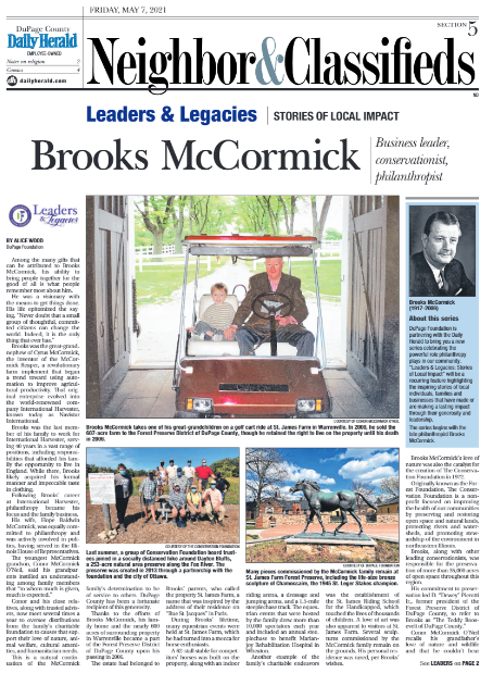 """Introducing """"Leaders & Legacies,"""" a partnership with the Daily Herald"""