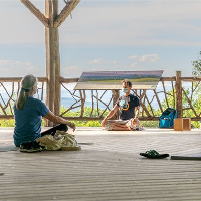 Evening Yoga at the Pavilion