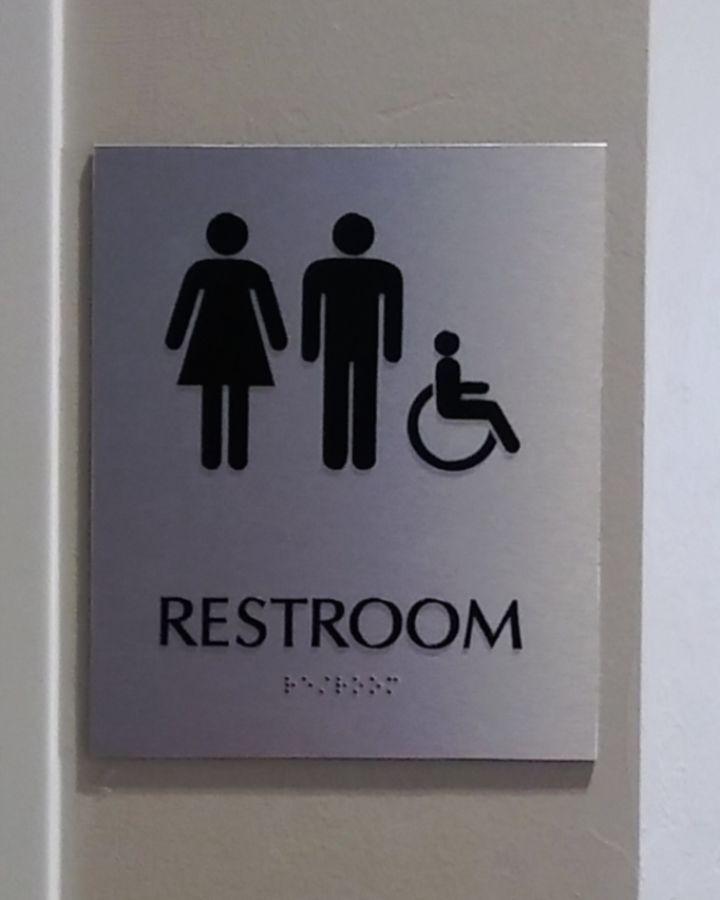 Restroom ADA silver