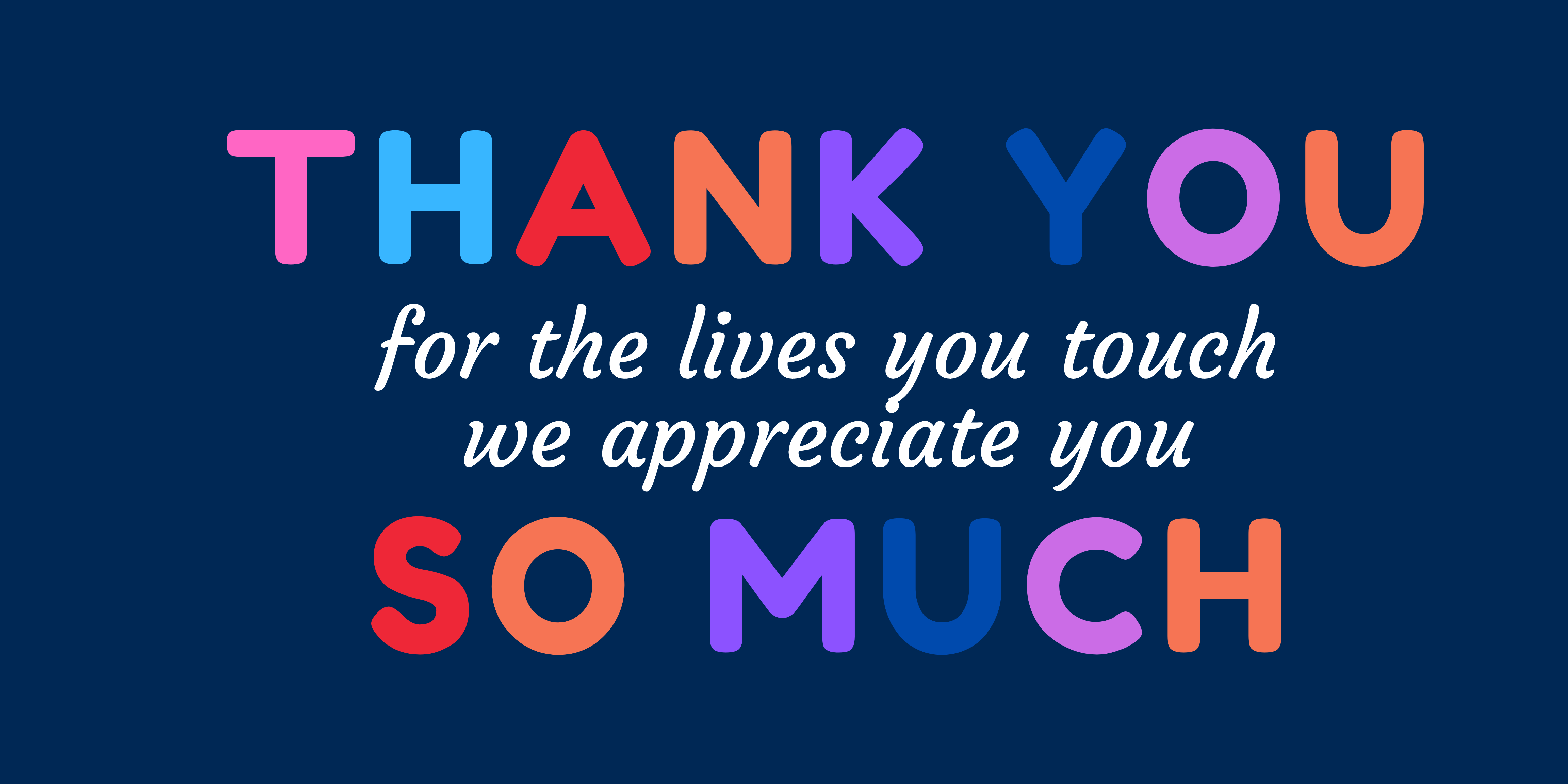Thank You Banner - Blue