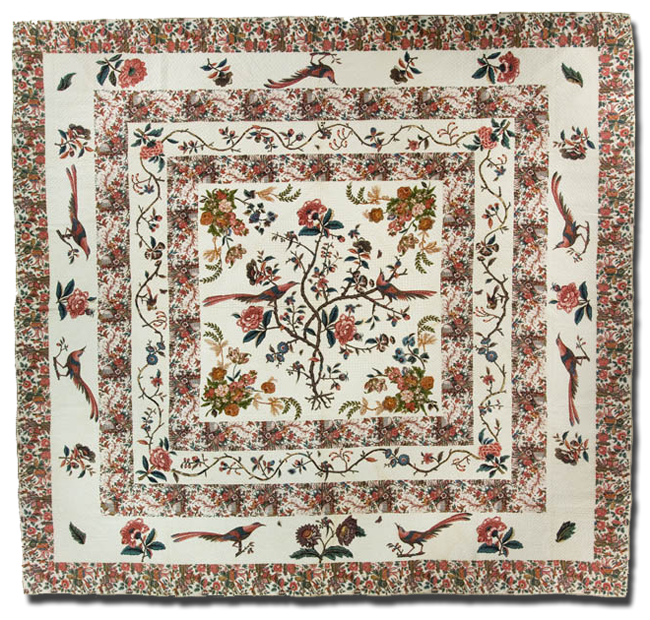 Tree of Life, Maker unknown, Probably made in United States, Circa 1790-1810, 123 x 132 in, IQSC 2007.034.0001