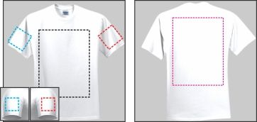 T-Shirt Printable Areas