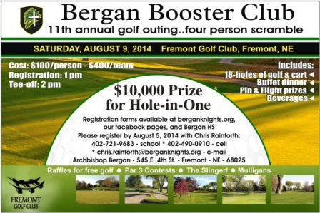 2014 BERGAN BOOSTER CLUB 11TH ANNUAL GOLF TOURNAMENT