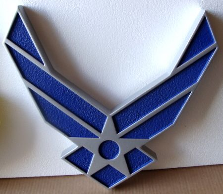 LP-1160 - Carved WIngs Emblem of the US Air Force, Artist Painted