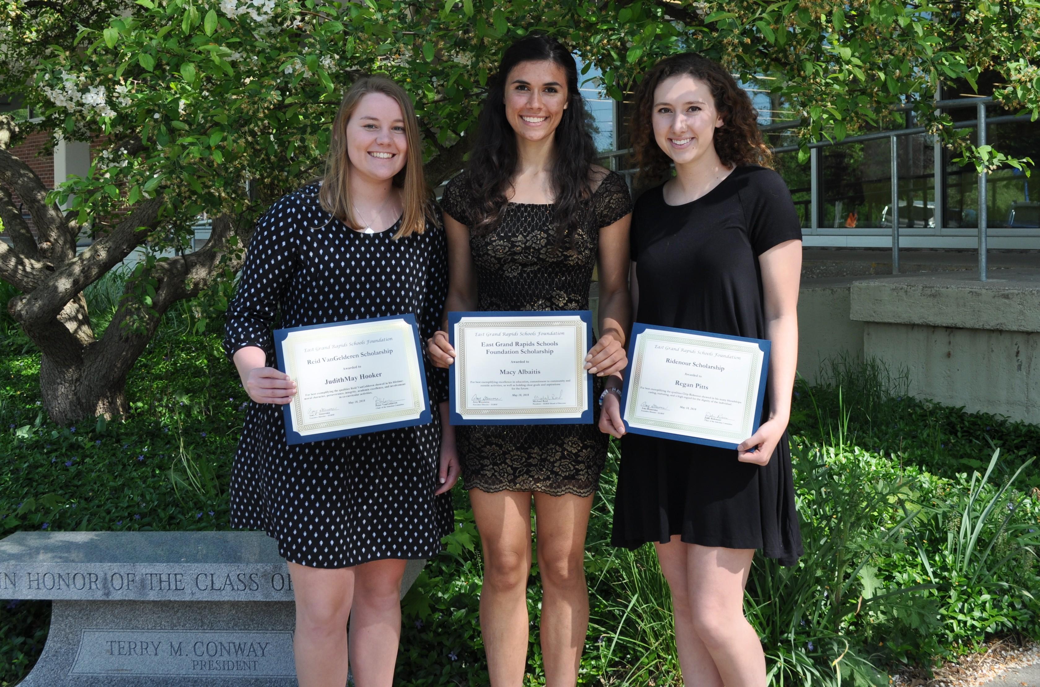 2018 Foundation Scholarship Recipients