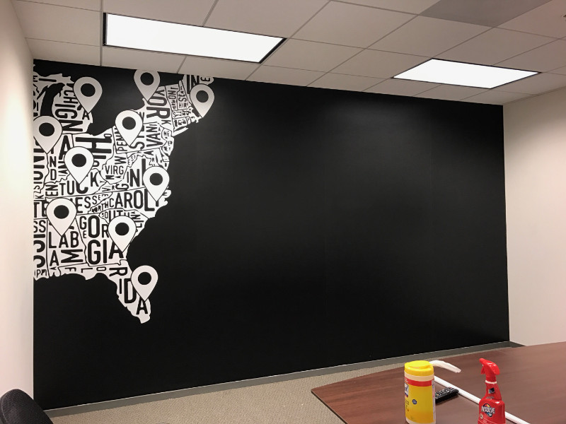 Wall murals office Hd Wall Office Wall Mural Map Superior Signs And Graphics Custom Wall Graphics Murals Printed Wallpaper Buena Park Ca 90621